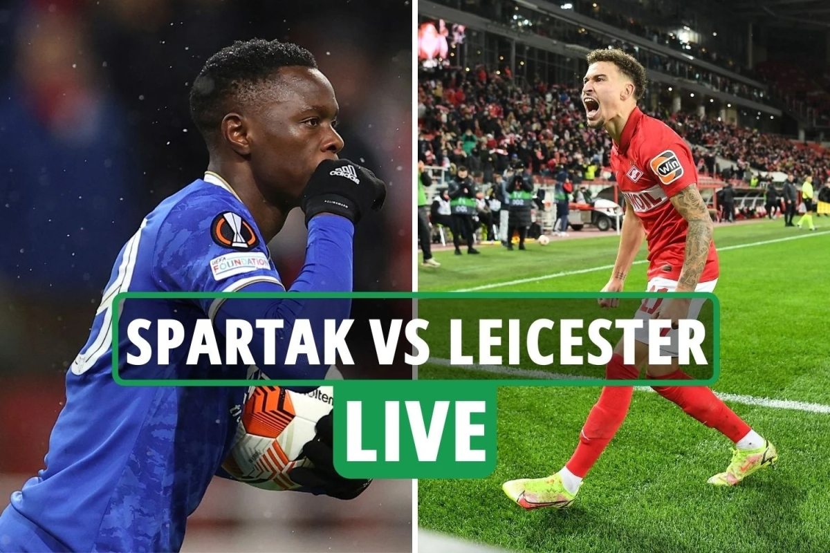 Spartak Moscow vs Leicester LIVE SCORE: Latest updates from Europa League match