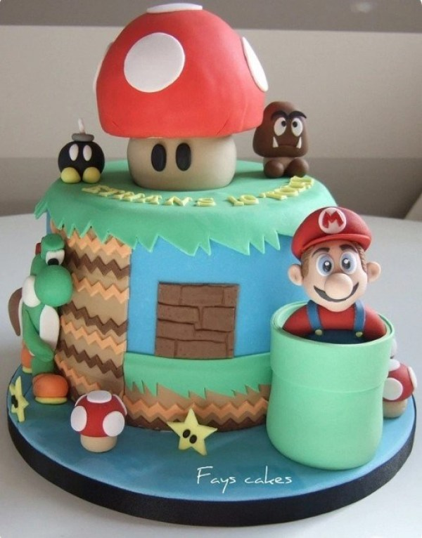 Kue Ulang Tahun Mario Bros