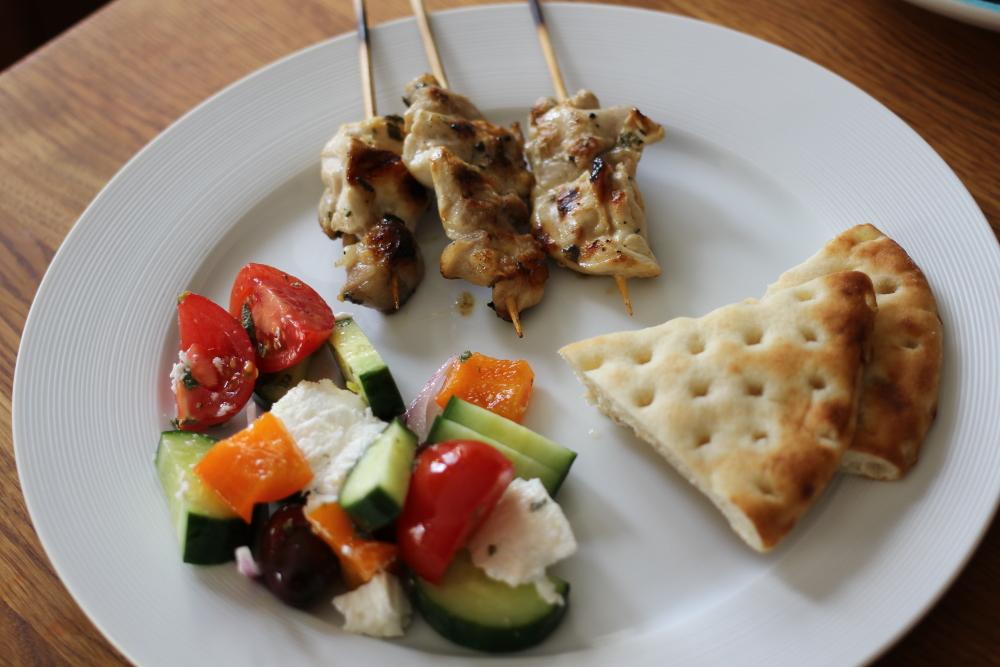 2-for-1 Greek Take-out Salad with Easy Chicken Souvlaki www.dailytiramisu.com