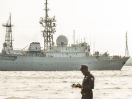 Russian spy ship operating in 'unsafe manner' near US