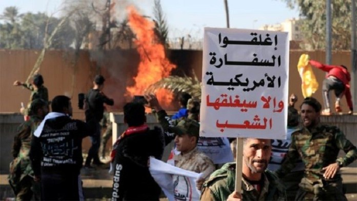 US embassy in Baghdad attacked by protesters