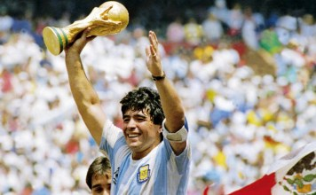 Diego Maradona was inspirational as captain when Argentina won the World Cup in 1986. Photo source: Getty Images