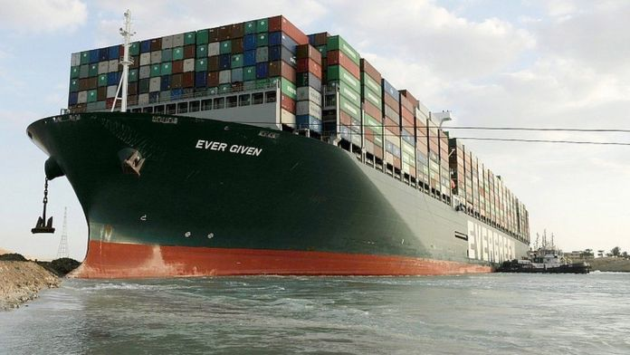 Effort to refloat wedged container ship in Suez Canal continues