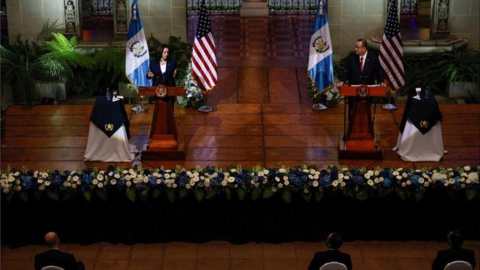 Kamala Harris tells Guatemala migrants