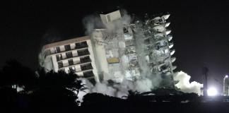 Deadly Florida condo demolished over safety fears