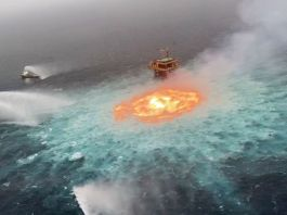 Gas leak responsible for 'eye of fire' in Mexican waters, says oil company