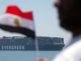 Ever Given returns through Suez Canal it blocked