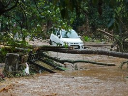Several houses were washed away by the floods in the state and people became trapped in the district of Kottayam.