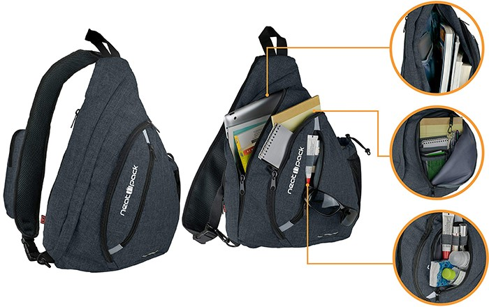 Versatile Canvas Sling Travel Backpack