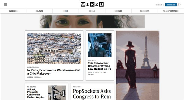 Wired blog site