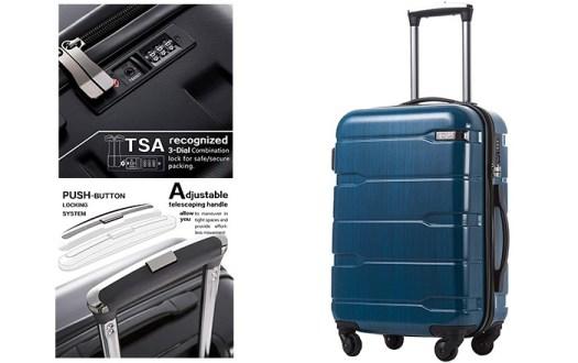 Coolife luggage expandable