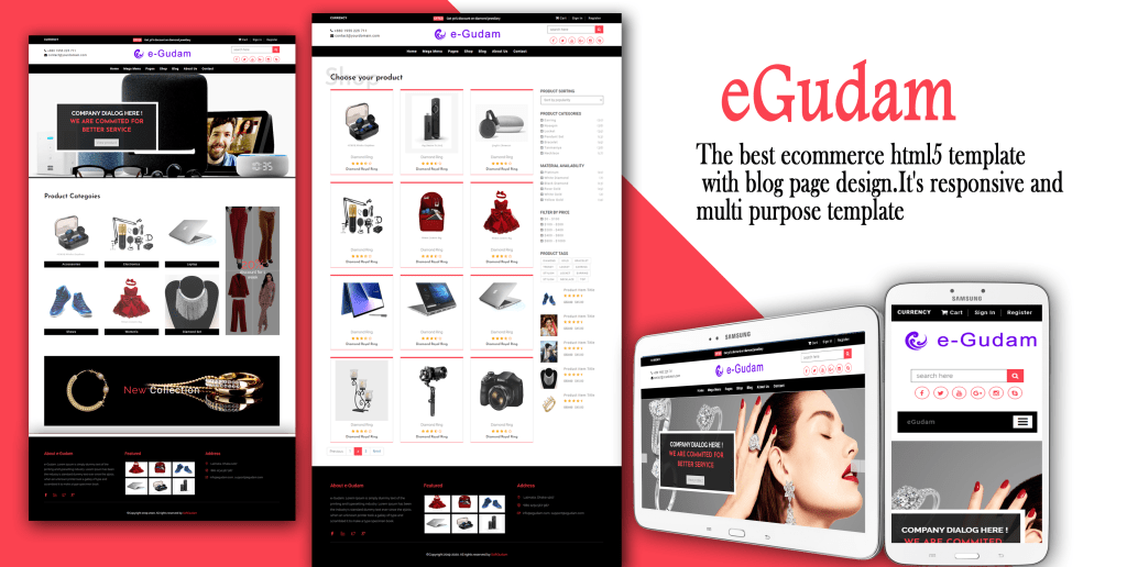 Responsive Ecommerce Website Templates