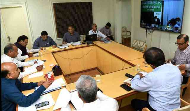 Chief Minister Ashok Gehlot video conferencing