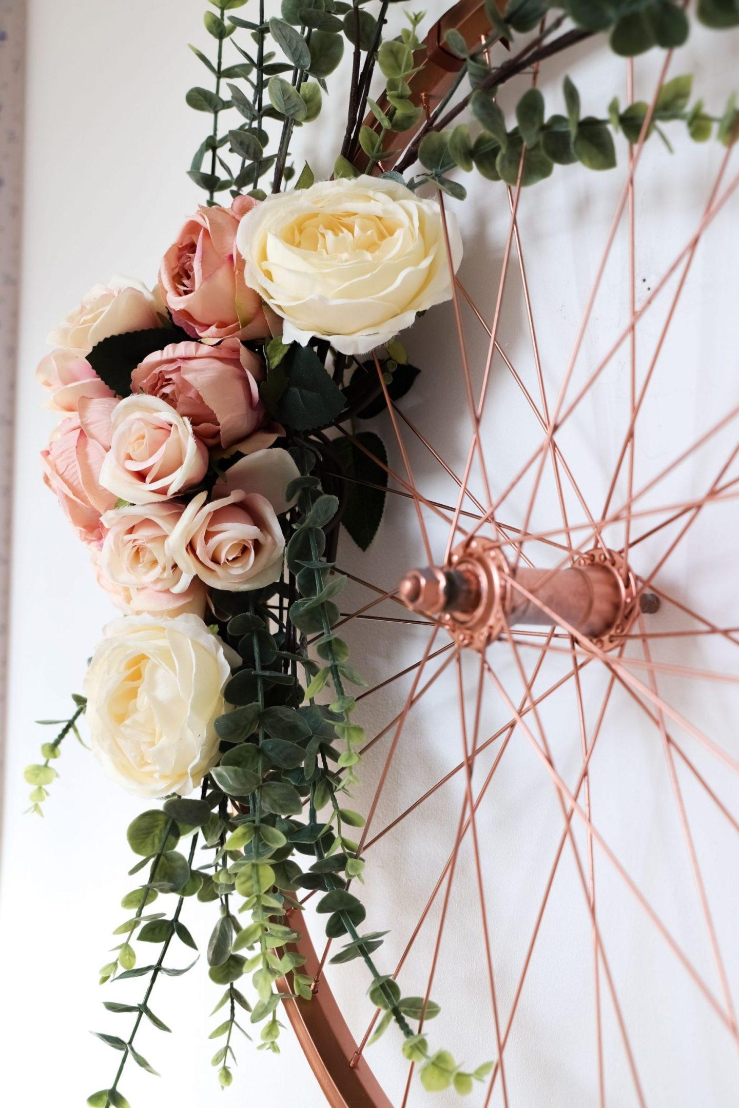 Faux flower DIY wreath