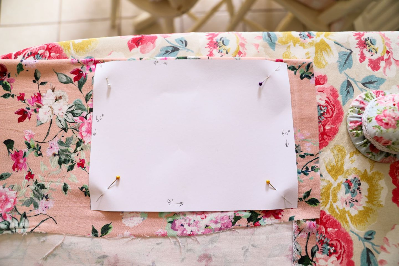 DIY floral zipper pouch