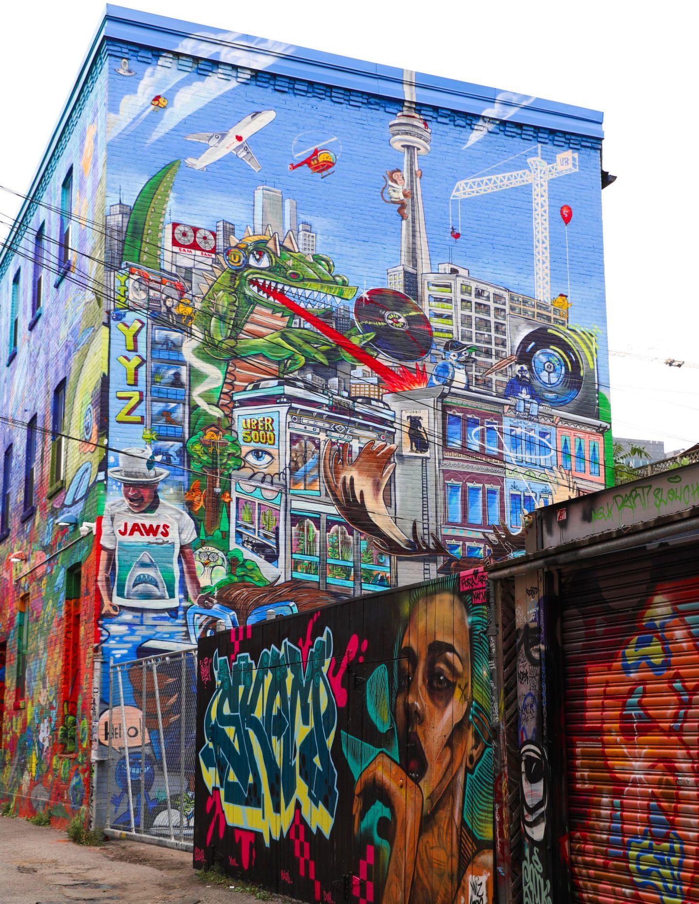 Queen st west graffiti alley