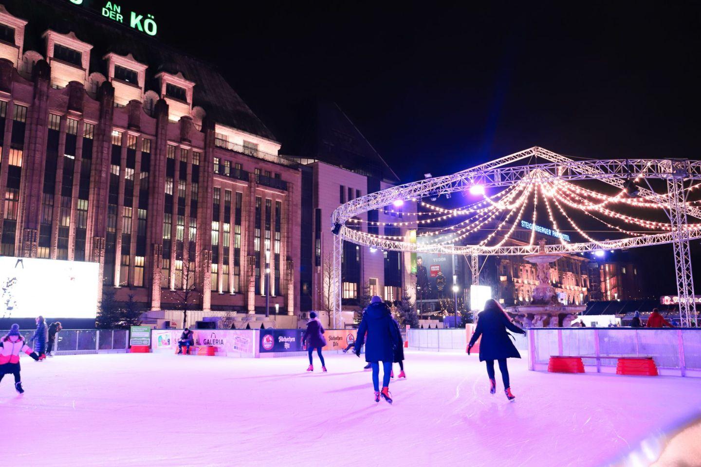 Ice skating christmas market