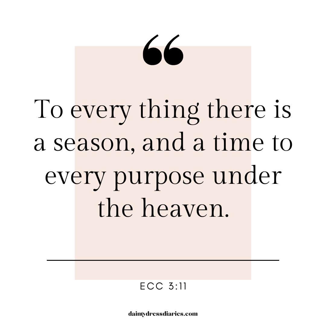 To everything there is a season quote