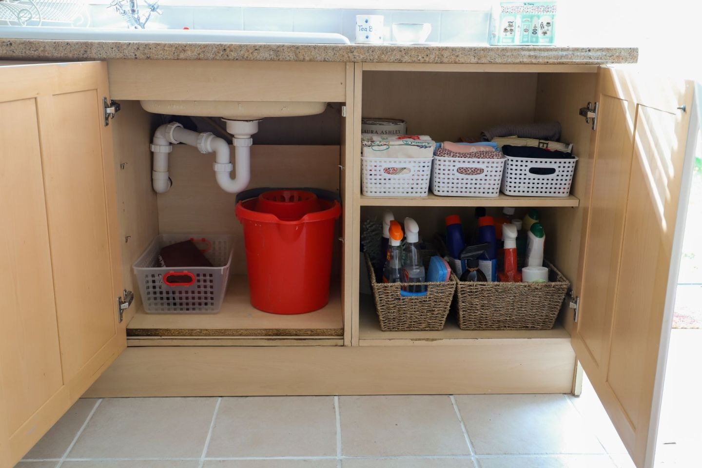 Kitchen storage containers and baskets