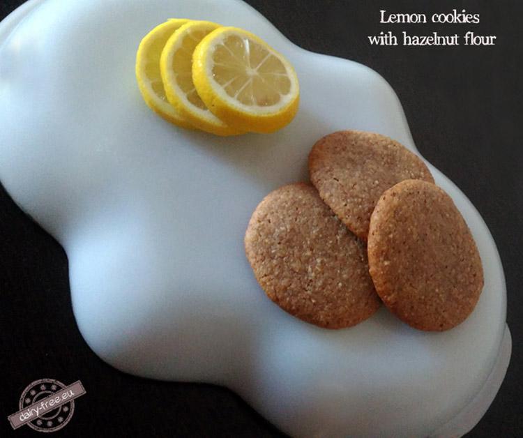 Cookies λεμονιού με αλεύρι φουντουκιού