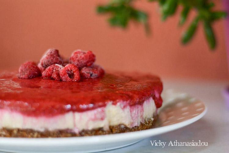 Cheesecake με σμέουρα
