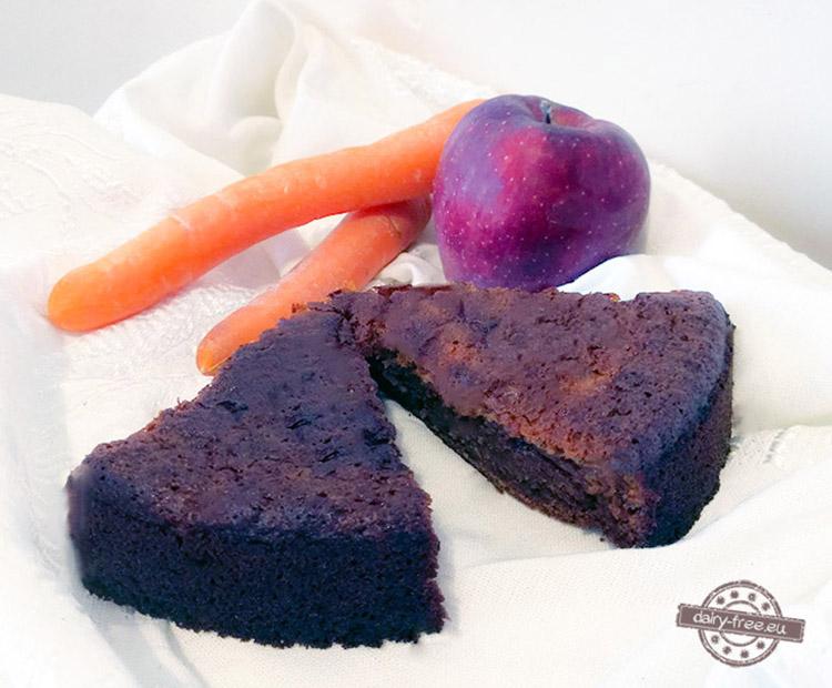 Μελένιο κέικ με μήλο και καρότο
