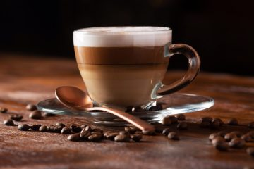 coffee latte with coconut milk