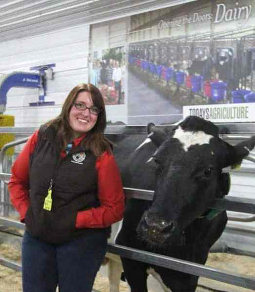 Of course I hit it off with the two dairy cows that were part of the Today's Ag display.