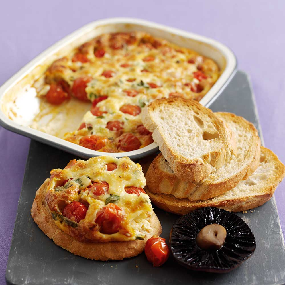 Creamy Cherry Tomato and Mushroom Toasts