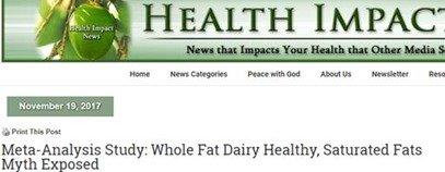 No link between dairy and heart disease