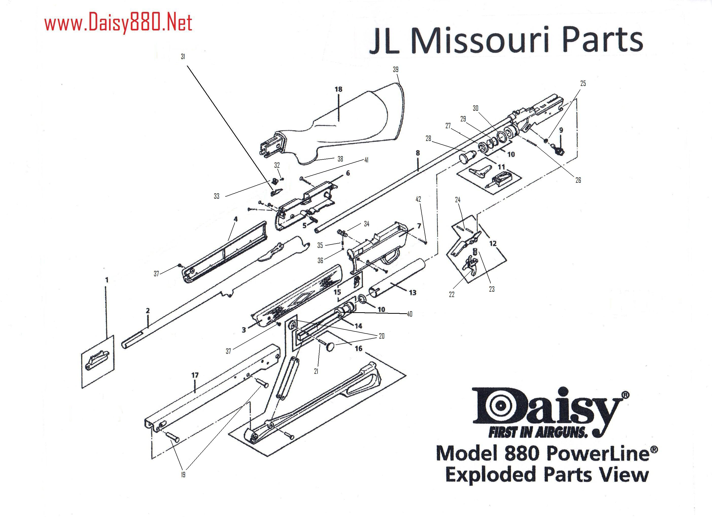 Daisy Model 25 Exploded Diagram