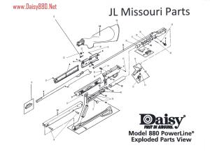 880 Exploded Parts Diagrams & Order Links – Daisy 880 Net