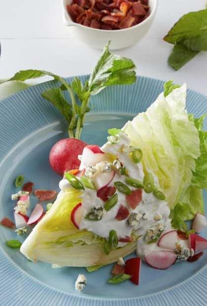 Creamy Wedge Salad on plate