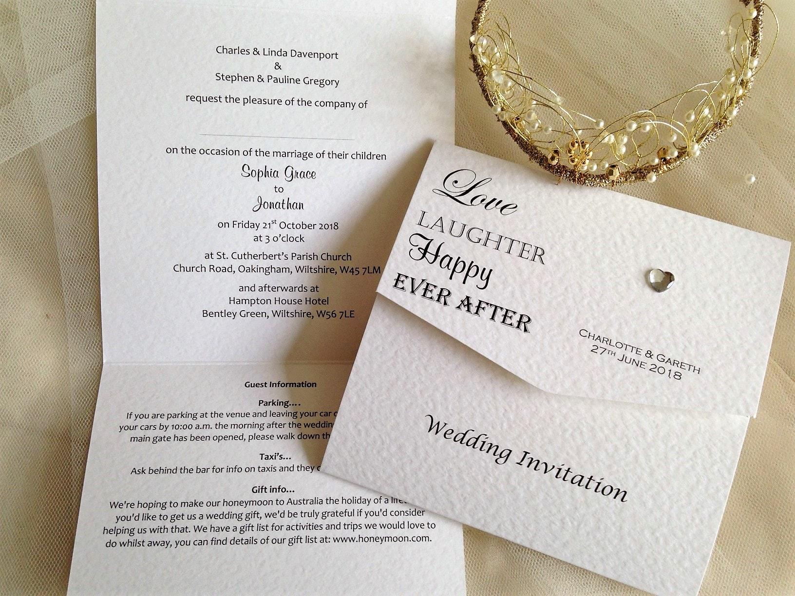 tri fold invites