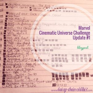 Marvel Cinematic Universe Challenge Update #1