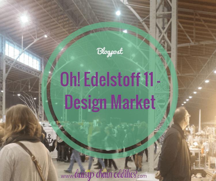 """Menschen auf einem Design Markt mit Text """"Blogpost - Oh! Edelstoff 11 - Design Market"""""""