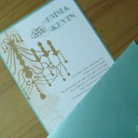 Chandelier aqua w/ envelope
