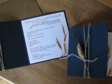 Wheat Kings Layered Invitation