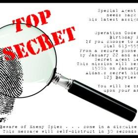 Secret Agent Party Invite