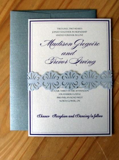 Sterling Sash Invitation