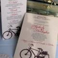 Come Ride With Me invite and menu