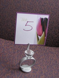 Ring Holder Table Number