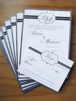 Sparkling Platinum invites, rsvp