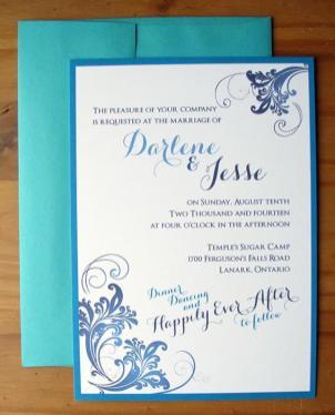 invite and envelope