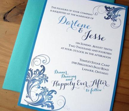 50 Shades of Blue invite close-up