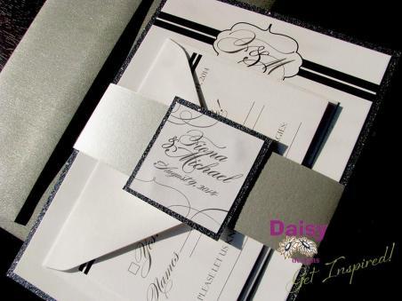 Sparkling Platinum with envelopes
