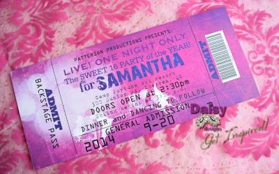 Concert Ticket Fuchsia