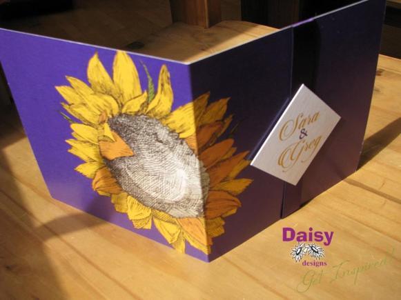 Sara's Sunflower invite cover
