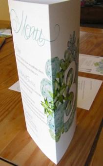 Succulents Menu Triangle