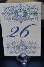 sapphire lace table number